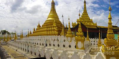 Art Print featuring the photograph Sandamuni Pagoda Mandalay Burma by Ralph A  Ledergerber-Photography