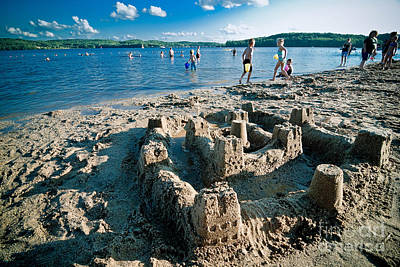 Sandcastle On The Beach Print by Amy Cicconi