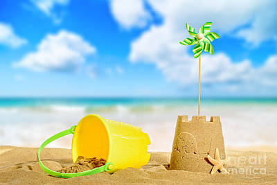 Sandcastle On The Beach Art Print