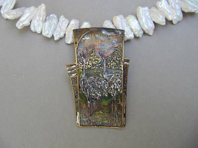 Jewelry - Sandhill Cranes by Brenda Berdnik