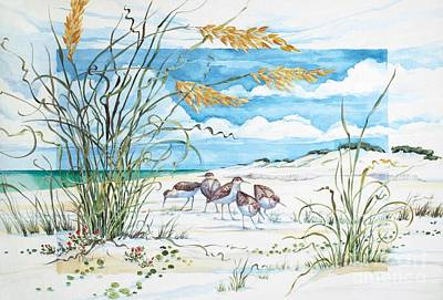 Sandpiper Wall Art - Painting - Sandpiper Dunes by Paul Brent
