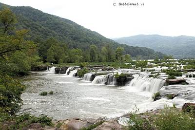Photograph - Sandstone Falls by Carolyn Postelwait