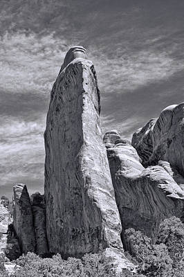 Photograph - Sandstone Tower Capitol Reef National Park by Allen Beatty