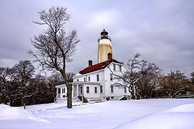 Base Path Photograph - Sandy Hook Lighthouse by Geraldine Scull