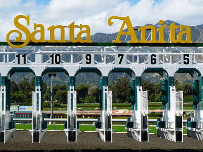 Santa Anita Starting Gate Art Print