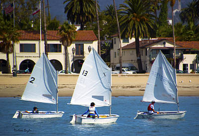 Photograph - Santa Barbara Harbor Yacht Race by Barbara Snyder