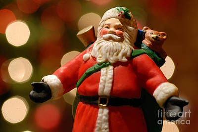 Lights Photograph - Santa Claus Figure by Amy Cicconi
