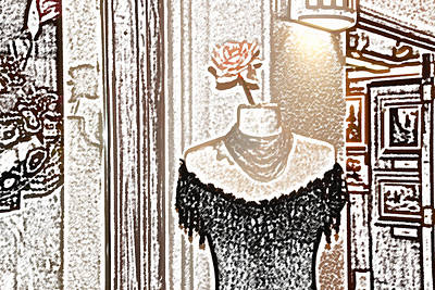 Digital Art - Santa Fe Dress Shop by Kathleen Stephens