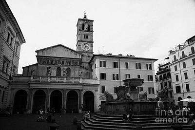 Trastevere Photograph - santa maria de trastavere in Rome Lazio Italy by Joe Fox
