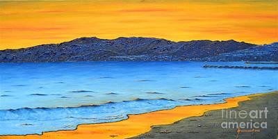 Santa Monica Bay Sunset Original by Jerome Stumphauzer