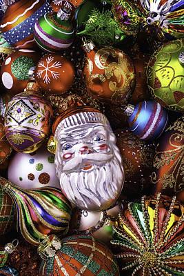 Santa Ornament Art Print