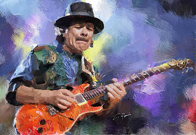 Painting - Santana by Charlie Roman