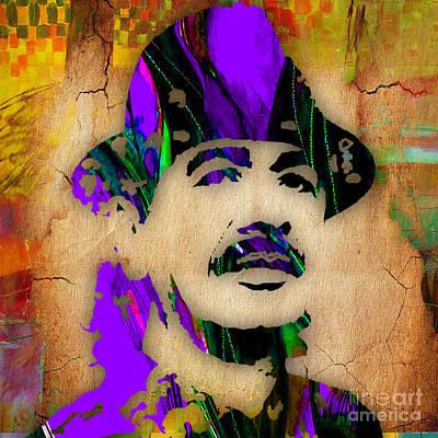 Santana Print by Marvin Blaine