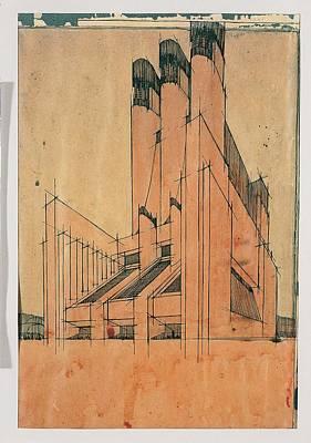 Futurism Architecture Wall Art - Photograph - Santelia Antonio, Design by Everett