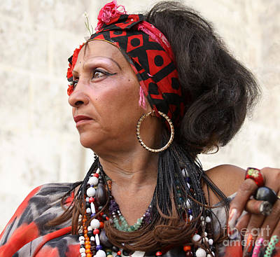 Photograph - Santeria Woman by PJ Boylan