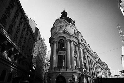 Santiago Stock Exchange Building Chile Art Print by Joe Fox