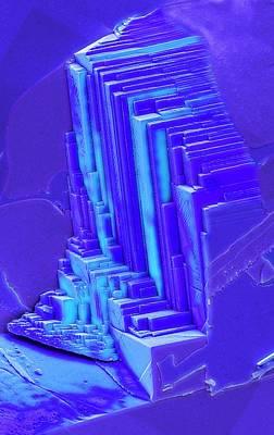 Sapphire Art Print by Steve Gschmeissner