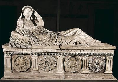 Chiusi Photograph - Sarcophagus Of Larthia Seianti. 1st by Everett