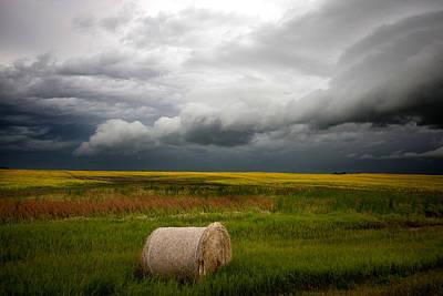 Priska Wettstein Land Shapes Series - Saskatchewan Storm  by Mark Duffy