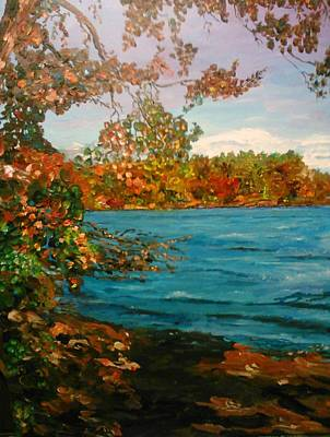 Painting - Sassaquin Pond by Ray Khalife