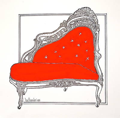 Mixed Media - Sassy Sally's Sofa Love Seat by Ira Shander
