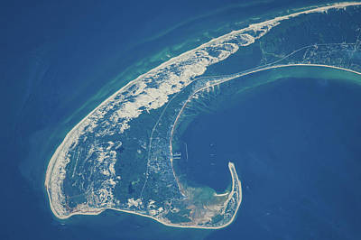 Exploration Of Space Photograph - Satellite View Of Cape Cod National by Panoramic Images