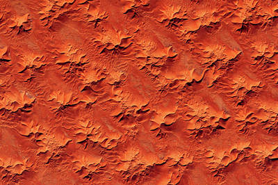 Repetition Photograph - Satellite View Of Murzuk Desert, Libya by Panoramic Images