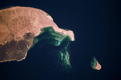 Sea And Rocks Photograph - Satellite View Of Qesm Shlatin, Red Sea by Panoramic Images