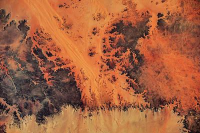 Satellite View Of Sahara Desert, New Art Print