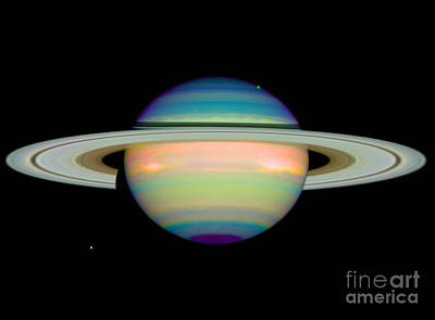 Heavenly Body Photograph - Saturn by Science Source