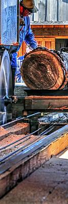 Jerry Sodorff Royalty-Free and Rights-Managed Images - Saw Mill 23159 P by Jerry Sodorff