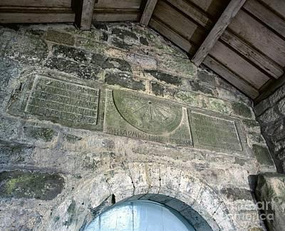 Saxon Sundial Art Print
