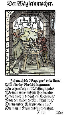File Painting - Scale Maker, 1568 by Granger