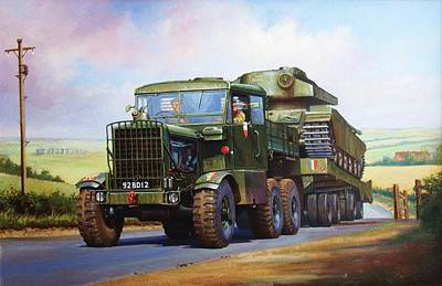 Commission A Painting - Scammell Explorer. by Mike  Jeffries