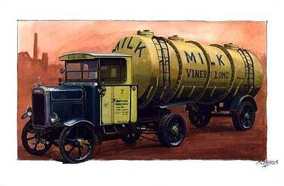Tanker Wall Art - Painting - Scammell Frameless Tanker. by Mike Jeffries