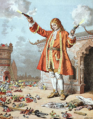 Satire Wall Art - Painting - Scene From Gullivers Travels by Frederic Lix
