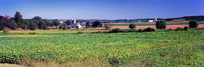 Scenic View Of A Farm, Pennsylvania Art Print