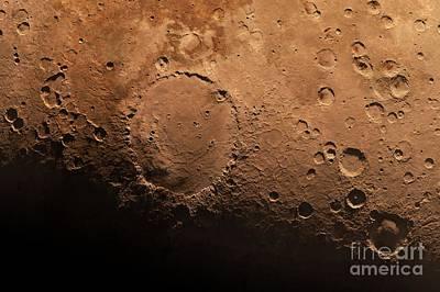 Schiaparelli Crater, Artwork Art Print by Detlev van Ravenswaay