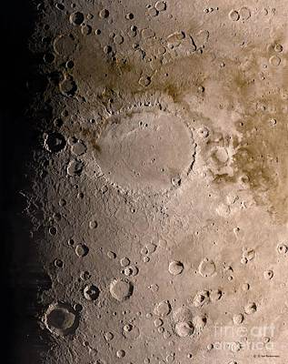 Schiaparelli Crater, Mars, Artwork Art Print by Detlev van Ravenswaay