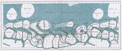 Schiaparelli Mars Map, 1877-78 Art Print by Science Source
