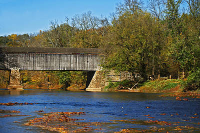 Photograph - Schofield Ford Covered Bridge by Elsa Marie Santoro