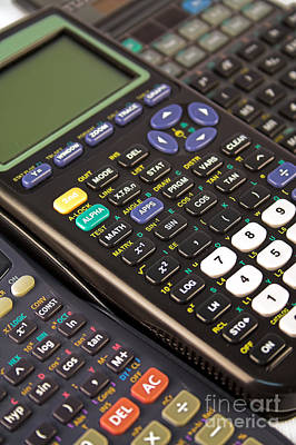 Keypad Photograph - Scientific Calculators by Jose Elias - Sofia Pereira