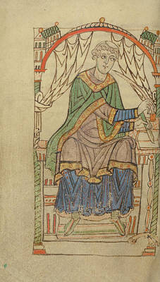 Scribe Painting - Scribe Writing, Probably Eadmer Of Canterbury Unknown by Litz Collection
