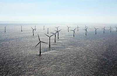 Scroby Sands Windfarm Art Print by Victor De Schwanberg