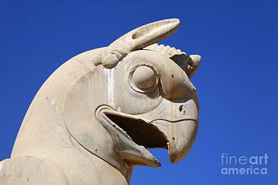 Ancient Persia Photograph - Sculpture Of A Homa Bird At Persepolis In Iran by Robert Preston