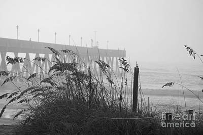 Photograph - Sea Fog In Black And White by Bob Sample