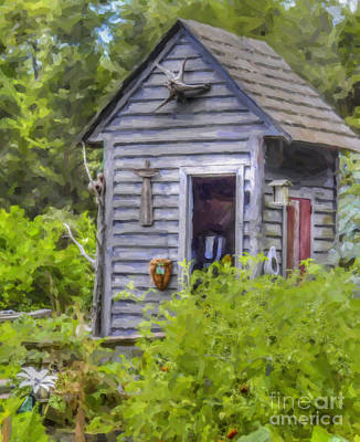 Shed Digital Art - Sea Island Shack by Dale Powell