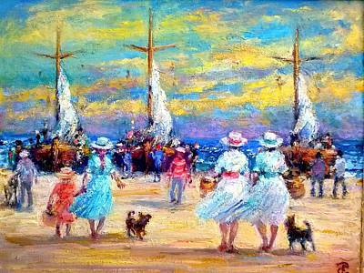 Painting - Sea Market by Philip Corley