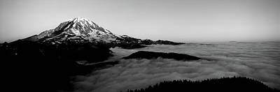 Sea Of Clouds With Mountains Art Print