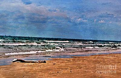 Sea Sand Wc Art Print by Ken Williams